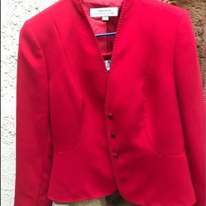 TAHARI SUIT 2 peace Red size 6 NWOT